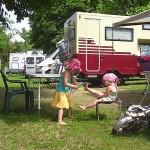 Haller Camping Budapest: Auto und Zelt