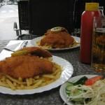Hausbier und Wienerschnitzel