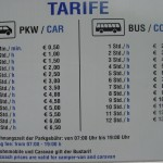 Parking Preise Tarife