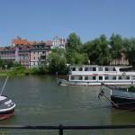 Regensburg Schiff auf der Donau