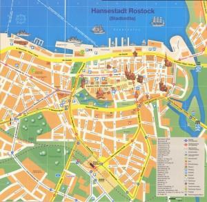 Rostock Karte Stadtmitte Touristen Info