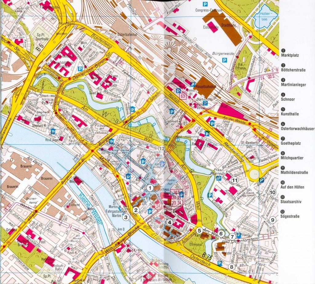 sehenswürdigkeiten bremen karte Bremen Karte   Unterkunft & Reisetipps, Hotelreservierung und