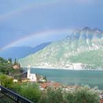 Riva di Solto doppelt Himmelsbogen Blick auf dem Apartment