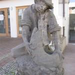Fischer Skulptur