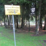 Übernactung verboten